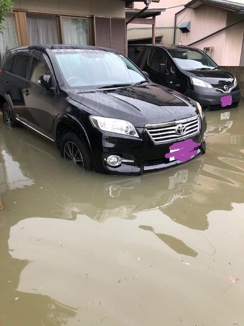 西日本豪雨で浸水しました。。。